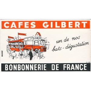 BUVARD CAFES GILBERT - BONBONNERIE DE FRANCE