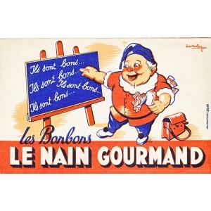 BUVARD LES BONBONS LE NAIN GOURMAND