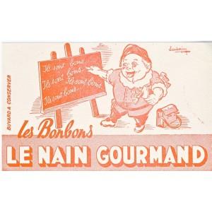 BUVARD LES BONBONS LE NAIN GOURMAND ROSE