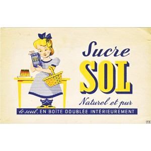 BUVARD SUCRE SOL NATUREL ET PUR  - FILLETTE