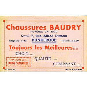 BUVARD CHAUSSURES BAUDRY DUNKERQUE