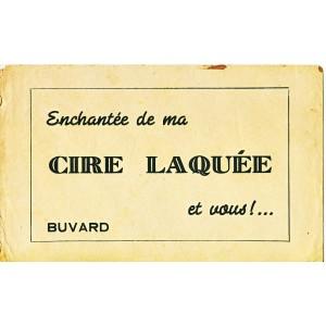 BUVARD CIRE LAQUEE