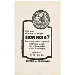 BUVARD CIRAGE CREME LION NOIR
