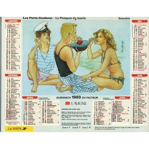 CALENDRIER DU FACTEUR 1993 - RUSECKIS - LES PORTE-BONHEUR