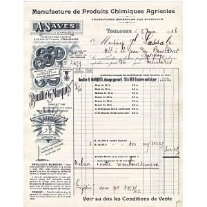 FACTURE PRODUITS CHIMIQUES AGRICOLES - TOULOUSE - HAUTE GARONNE