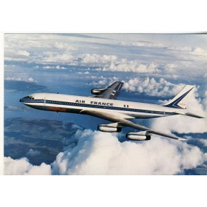 CARTE POSTALE AVIATION - AIR FRANCE - BOEING JET INTERCONTINENTAL
