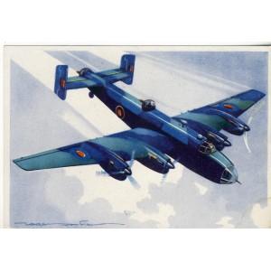 CARTE POSTALE AVIATION - BOMBARDIER DE NUIT HANDLEY PAGE HALIFAX