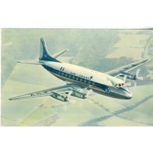 CARTE POSTALE AVIATION - AIR FRANCE - VICKERS VISCOUNT