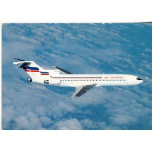 CARTE POSTALE AVIATION - AIR CHARTER, FILIALE D'AIR FRANCE ET D'AIR INTER - BOEING 727-728