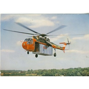 CARTE POSTALE AVIATION -LE SIKORSKI S-64 - LE PLUS GROS HELICOPTERE AMERICAIN