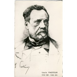 CARTE POSTALE LOUIS PASTEUR - DOLE 1822 - PARIS 1895