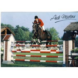 CARTE POSTALE SAUT D'OBSTACLES - AUDI MASTERS 1986