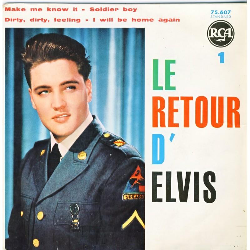 DISQUE 45 TOURS ELVIS PRESLEY  - LE RETOUR D'ELVIS 1
