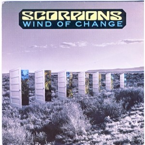 DISQUE 45 TOURS SCORPIONS - WIND OF CHANGE
