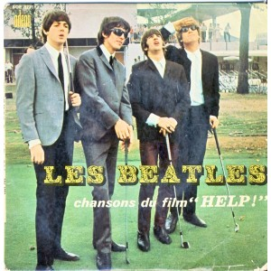"DISQUE 45 TOURS  THE BEATLES - CHANSONS DU FILM ""HELP !"""