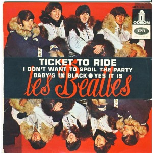 DISQUE 45 TOURS  LES  BEATLES - TICKET TO RIDE