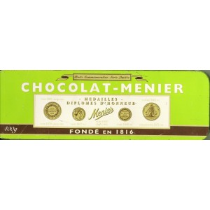 BOITE  COMMEMORATIVE SERIE LIMITEE CHOCOLAT MENIER
