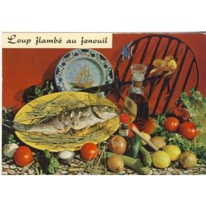 RECETTE EMILIE BERNARD N° 167 - LOUP FLAMBE AU FENOUIL