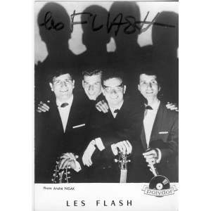 CARTE DEDICACEE LES FLASH - POLYDOR