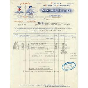 FACTURE FABRIQUE DE CONSERVES ALIMENTAIRES - CASSENEUIL (47)