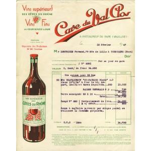 FACTURE CAVE DU VAL CLOS - CHATEAUNEUF DU PAPE (84)