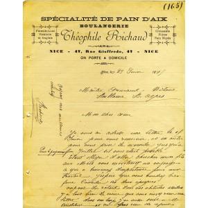 FACTURE SPECIALITE DE PAIN D'AIX - BOULANGERIE - NICE