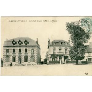 CP03 MARCILLAT - HOTEL ET GRAND CAFE DE LA PLACE