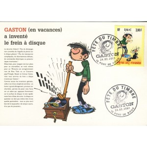 FETE DU TIMBRE 2001 - GASTON LAGAFFE