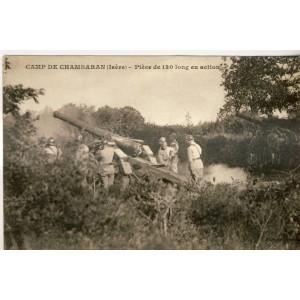 CP38 CAMP DE CHAMBARAN - PIECE DE 120 LONG EN ACTION