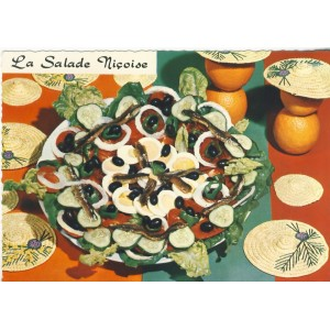 RECETTE DE CUISINE EMILIE BERNARD N° 36 -  LA SALADE NICOISE