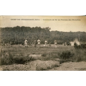 CP38  CAMP DE CHAMBARAN - CONCOURS DE TIR AU PLATEAU DES MONETTES