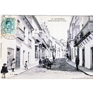 CARTE POSTALE ALGECIRAS - CALLE CRISTOBAL COLON