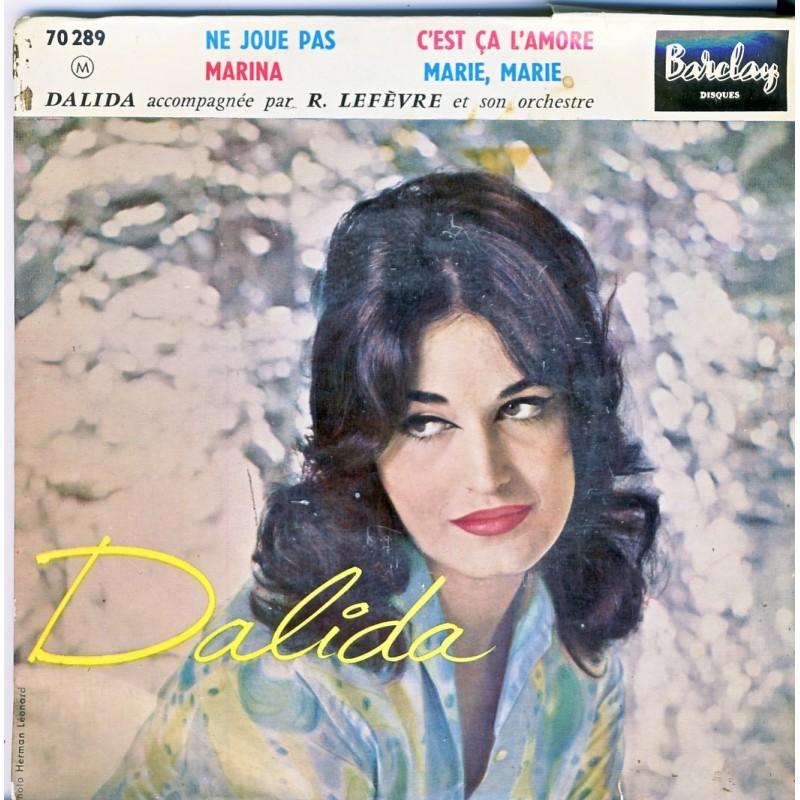 DISQUE 45 TOURS 17 cm EP - BIEM.  DALIDA - NE JOUE PAS