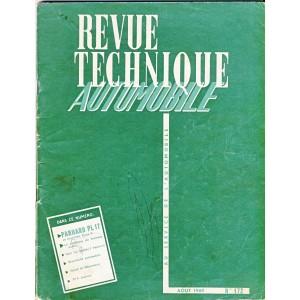 REVUE TECHNIQUE AUTOMOBILE AOUT 1960 N° 172