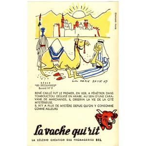 BUVARD LA VACHE QUI RIT -  LES DECOUVERTES N°9 - RENE CAILLE
