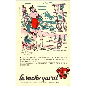 BUVARD LA VACHE QUI RIT -  LES DECOUVERTES N°7 - MAGELLAN