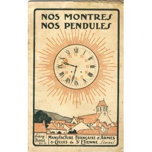 FASCICULE : NOS MONTRES - NOS PENDULES