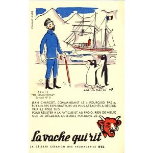 BUVARD LA VACHE QUI RIT -  LES DECOUVERTES N°6 - JEAN CHARCOT