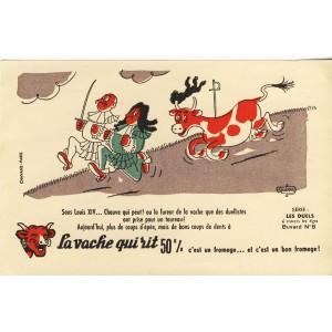 BUVARD LA VACHE QUI RIT -  SERIE LES DUELS N° 8 -  SOUS LOUIS XIV