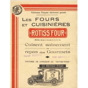 PUBLICITE FOURS ET CUISINIERES ROTISS'FOUR