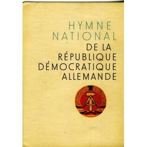 DEPLIANT  - HYMNE NATIONAL DE LA RDA