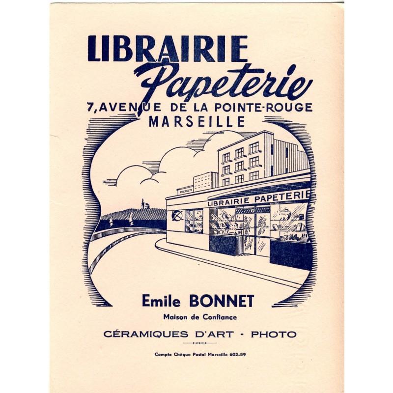 BUVARD LIBRAIRIE PAPETERIE BONNET MARSEILLE