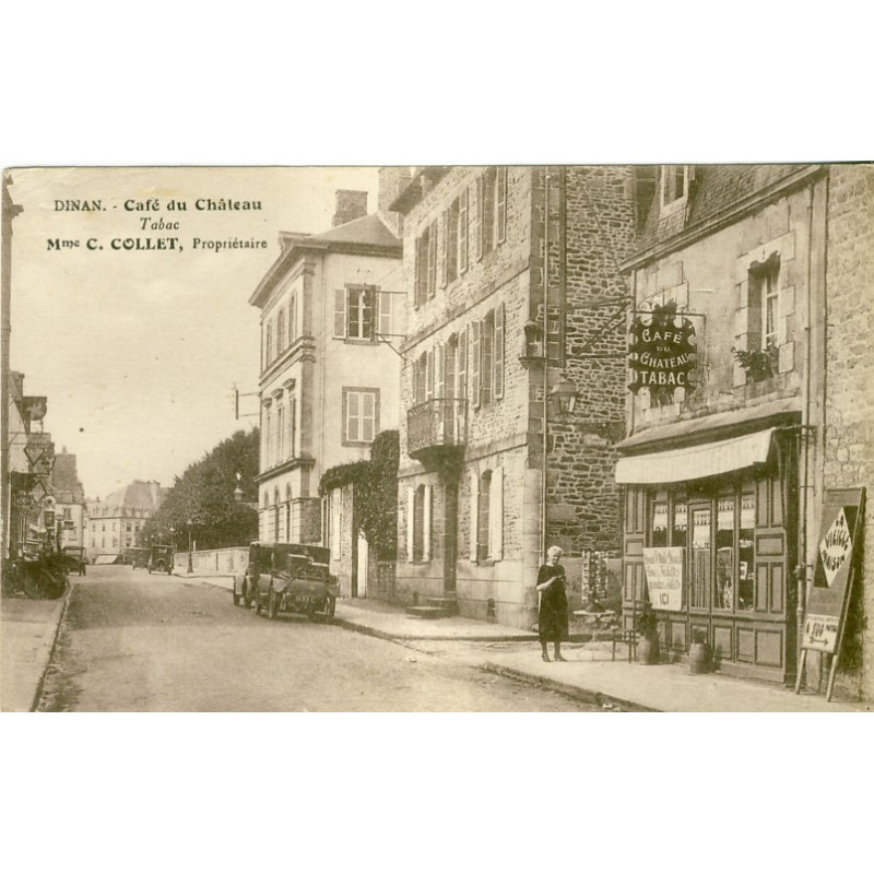 CP22 DINAN - CAFE DU CHATEAU - TABAC - Mme COLLET