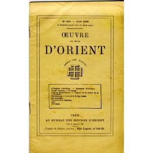 BULLETIN N° 396 - OEUVRE DES ECOLES D'ORIENT - DIEU LE VEUT