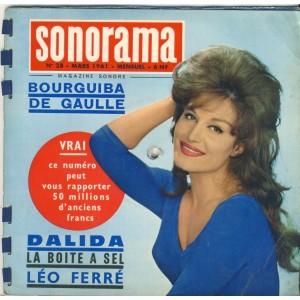 MAGAZINE SONORE SONORAMA N° 28 - MARS 1961 - DALIDA