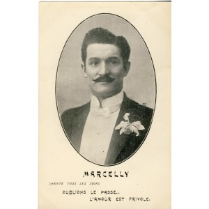 CARTE POSTALE MARCELLY - CHANTEUR