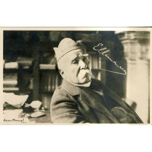 CARTE CLEMENCEAU - PHOTO SIGNEE HENRI MANUEL