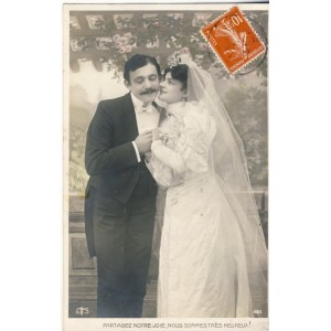 CARTE POSTALE MARIAGE - PARTAGEZ NOTRE JOIE