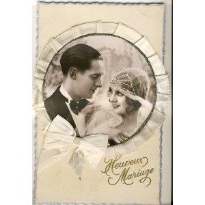 CARTE POSTALE A SYSTEME MARIAGE - HEUREUX MARIAGE