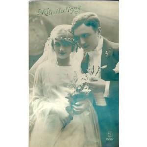 CARTE POSTALE MARIAGE - FELICITATIONS N° 2105